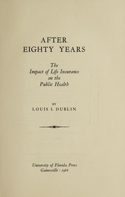 Cover of: After eighty years