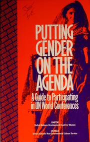 Cover of: Putting gender on the agenda