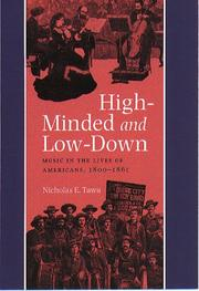 Cover of: High-minded and low-down