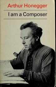 Cover of: I am a composer