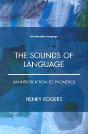 Cover of: The sounds of language