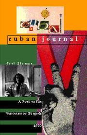 Cover of: Cuban journal