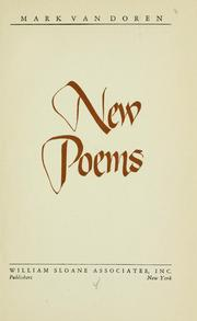 Cover of: New poems