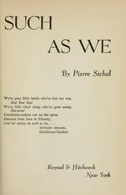 Cover of: Such as we