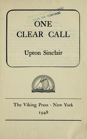 Cover of: One clear call