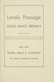 Cover of: Lonely passage