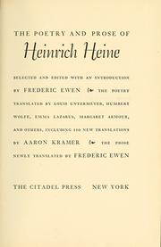 Cover of: The poetry and prose of Heinrich Heine