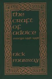 Cover of: The craft of advice