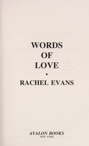 Cover of: Words of love
