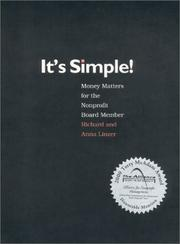 Cover of: It's simple!: money matters for the nonprofit board member