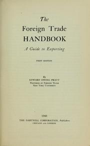 Cover of: The foreign trade handbook