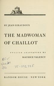 Cover of: La folle de Chaillot