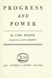 Cover of: Progress and power