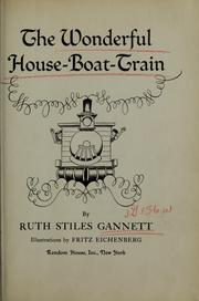 Cover of: The wonderful house-boat-train