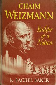 Cover of: Chaim Weizmann, builder of a nation