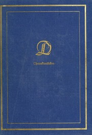 Cover of: Charakteristiken