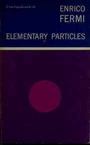Cover of: Elementary particles