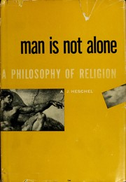 Cover of: Man is not alone