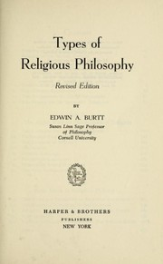 Cover of: Types of religious philosophy