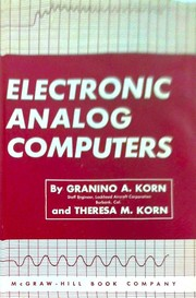 Cover of: Electronic analog computers