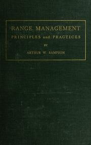 Cover of: Range management
