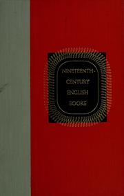 Cover of: Nineteenth-century English books