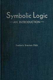Cover of: Symbolic logic