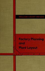 Cover of: Factory planning and plant layout