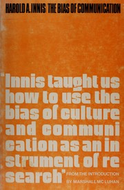 Cover of: The bias of communication