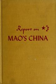Cover of: Report on Mao's China