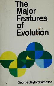 Cover of: The major features of evolution
