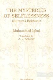 Cover of: The mysteries of selflessness: a philosophical poem.