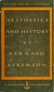 Cover of: Aesthetics and history
