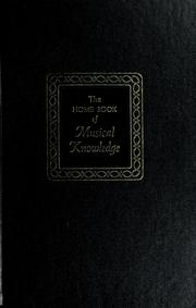 Cover of: The home book of musical knowledge
