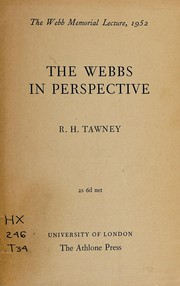 Cover of: The Webbs in perspective