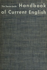 Cover of: The Perrin-Smith handbook of current English