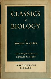 Cover of: Classics of biology