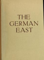 Cover of: The German east