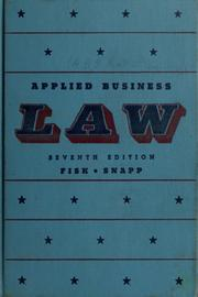 Cover of: Applied business law