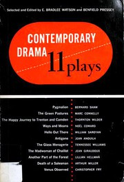 Cover of: Contemporary drama: eleven plays, American, English, European