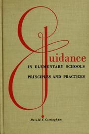 Cover of: Guidance in elementary schools: principles and practices