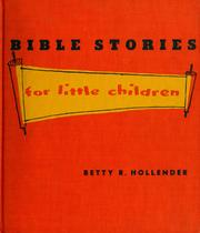 Cover of: Bible stories for little children