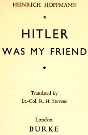 Cover of: Hitler was my friend