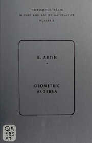 Cover of: Geometric algebra