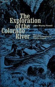 Cover of: The exploration of the Colorado River