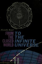 Cover of: From the closed world to the infinite universe