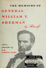 Cover of: Memoirs of General William T. Sherman