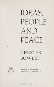 Cover of: Ideas, people and peace