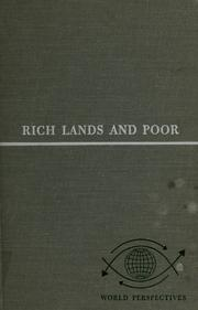 Cover of: Rich lands and poor