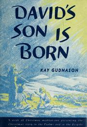 Cover of: David's son is born